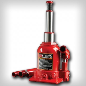 Домкрат с клапаном двойной цилиндр 2 т Big Red TF0402