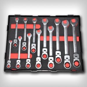 Набор рожково накидных трещоточных ключей Force K51210F